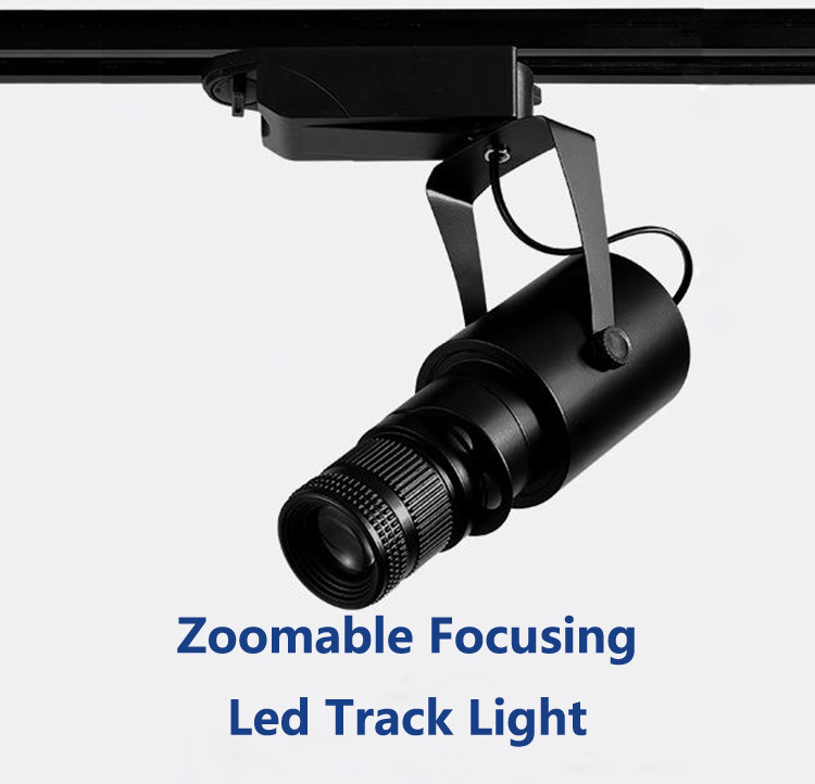 Zoomable Focusing Led Track Light Spotlight–precise focus, soft light effect, high display!