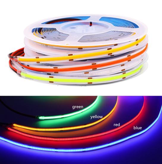 DC12V/24V RGB led tape flexible 180 degree big angle Flexible COB RGB Led Strip Light