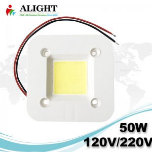 NEW 50W Driverless 0-100% Triac dimmable Soldering free AC COB