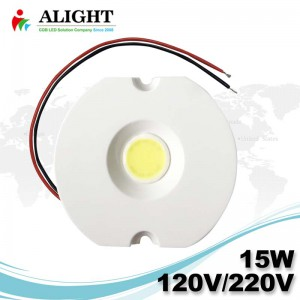 15W 120V/220V Driverless 0-100% Triac Dimmable Soldering Free AC COB LED