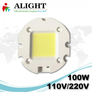 100W 110V / 220V AC COB LED dimmerabili con LED-Holder