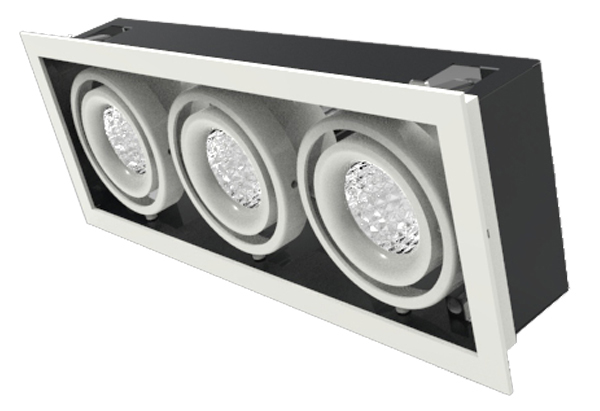 15w×3 cree cob led grille light