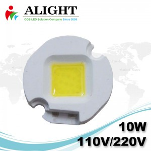 10W 110V/220V AC COB LED Dimmable with LED-Holder