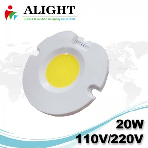 20W 110V / 220V AC COB LED dimmerabili con LED-Holder