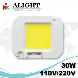 30W 110V / 220V AC COB LED dimmerabili con LED-Holder