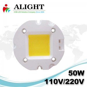 50W 110V / 220V AC COB LED dimmerabili con LED-Holder