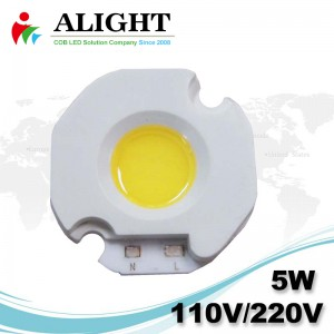 5W 110V / 220V AC COB LED dimmerabili con LED-Holder