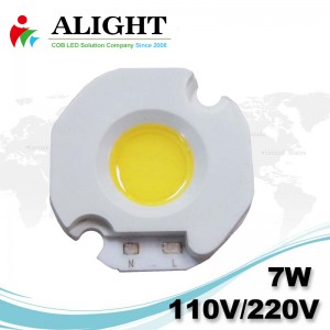 7W 110V/220V AC COB LED Dimmable with LED-Holder