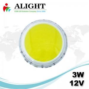 3w 12v Round DC COB LED
