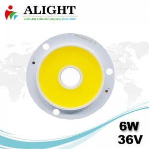 6W 36V Round DC COB LED