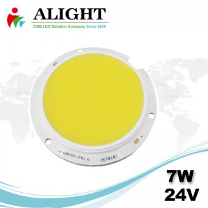 7W 24V круглый COB LED