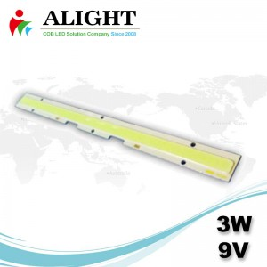 3W 9V DC Linear COB-LED