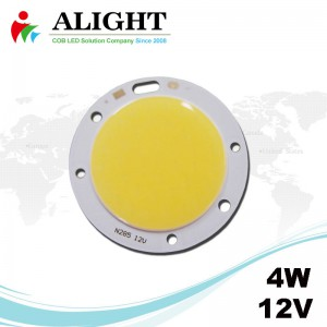4W 12V Round DC COB LED