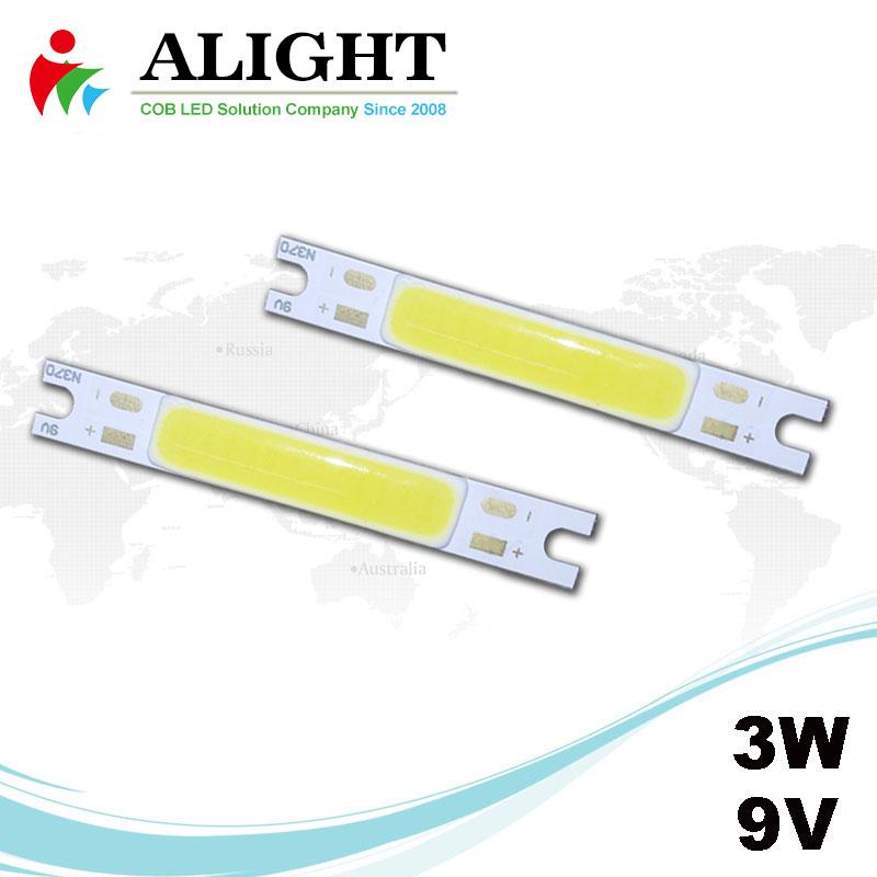 3W 9V Rectangle DC COB LED