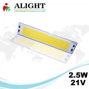 2.5W 21V Rectangle DC COB LED