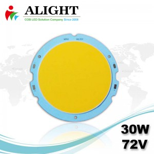 30W 72V Round DC COB LED