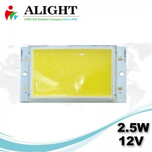 LED COB 2.5W 12V DC Rectangle