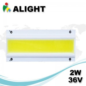 2W 36V DC rectángulo COB LED