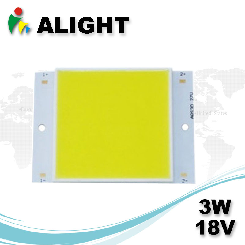 3W 18V Square DC COB LED