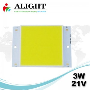 3W 21V Square DC COB LED