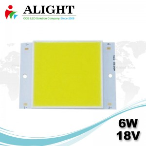 6W 18V Square DC COB LED