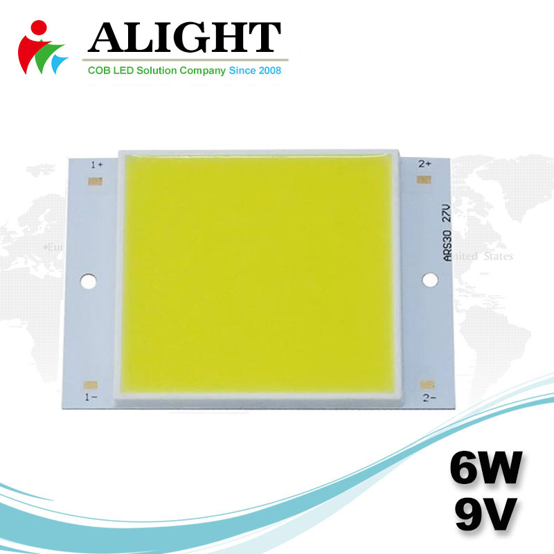 6W 9V Square DC COB LED