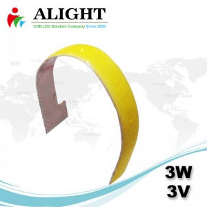 3W 3V Linear COB flexível
