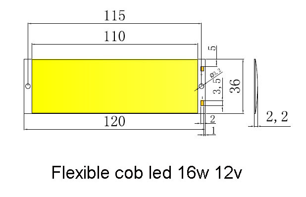 flexible led chip 16w 12v