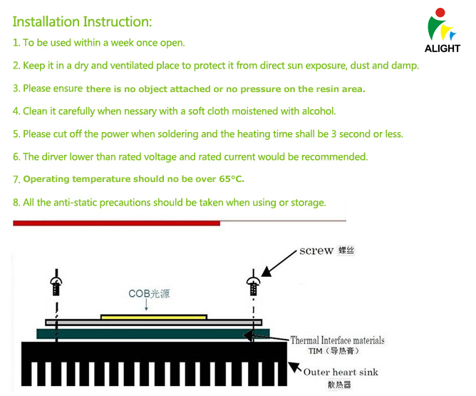 Installation Instruction of COB LED