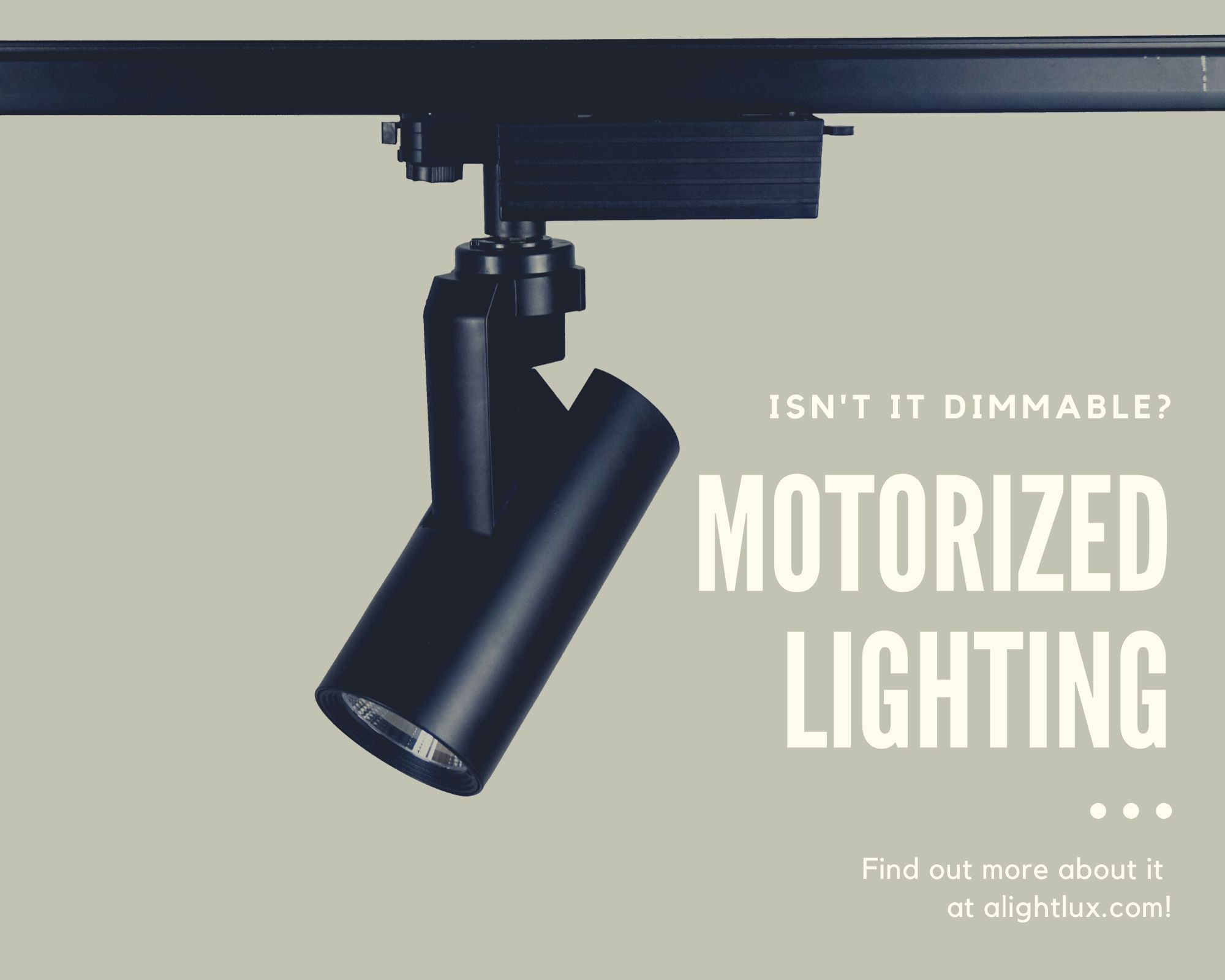 COB LED Motorized Track Lights Dimmbale